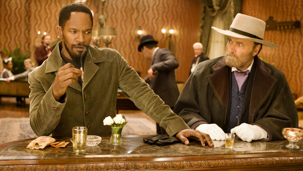 (L-R) JAMIE FOXX and FRANCO NERO star in DJANGO UNCHAINED