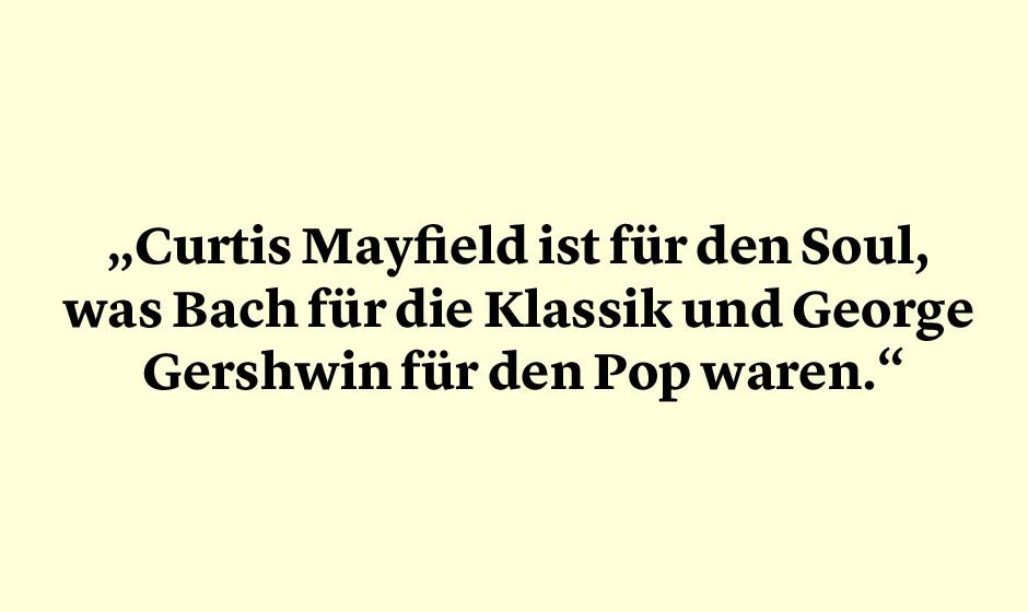 Aretha Franklin über Curtis Mayfield