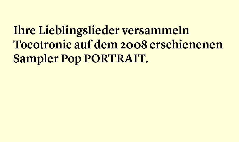 Faktum 7: der Tocotronic-Sampler