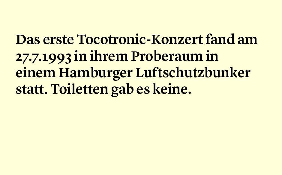 Faktum 20: Das erste Tocotronic-Konzert