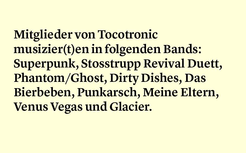 Faktum 36: Tocotronic-Mitglieder in anderen Bands