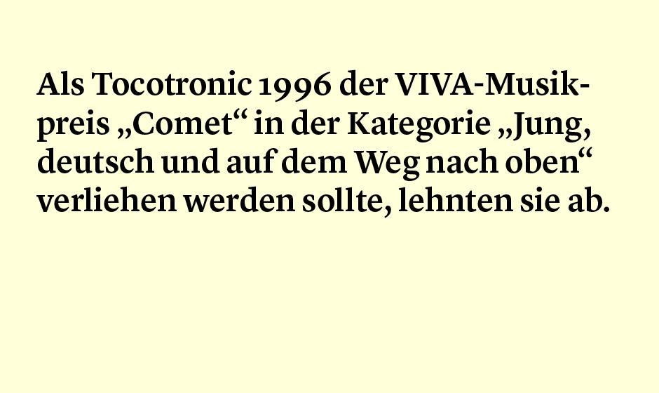 Faktum 46: Viava und Tocotronic