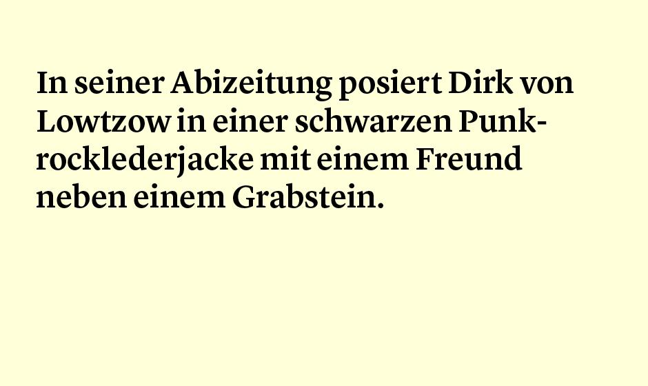 Faktum 59: Dirk von Lotzows Abizeitungsbild