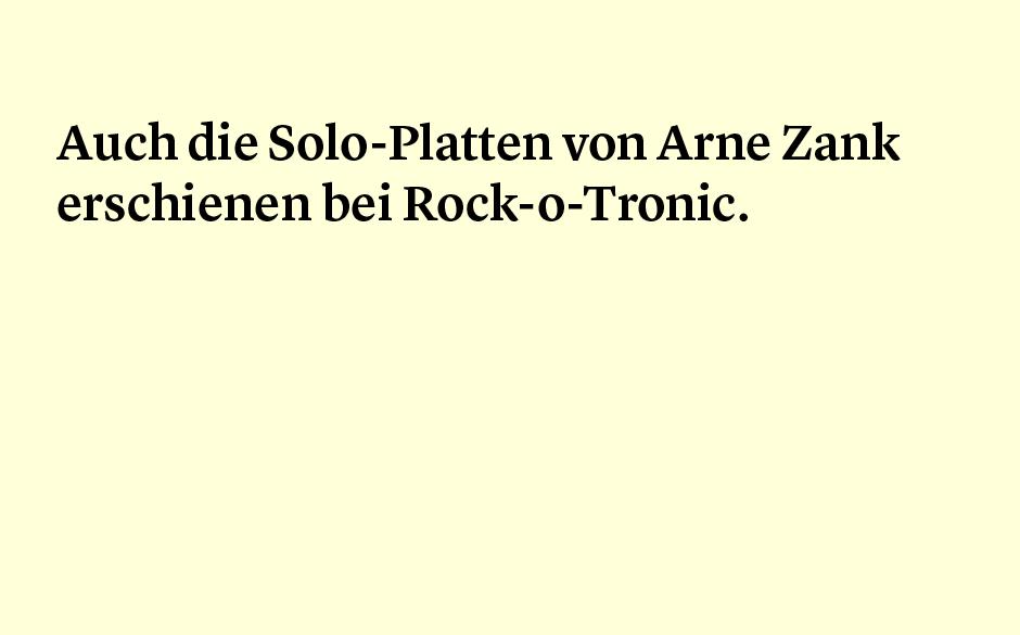 Faktum 62: Arne Zank solo