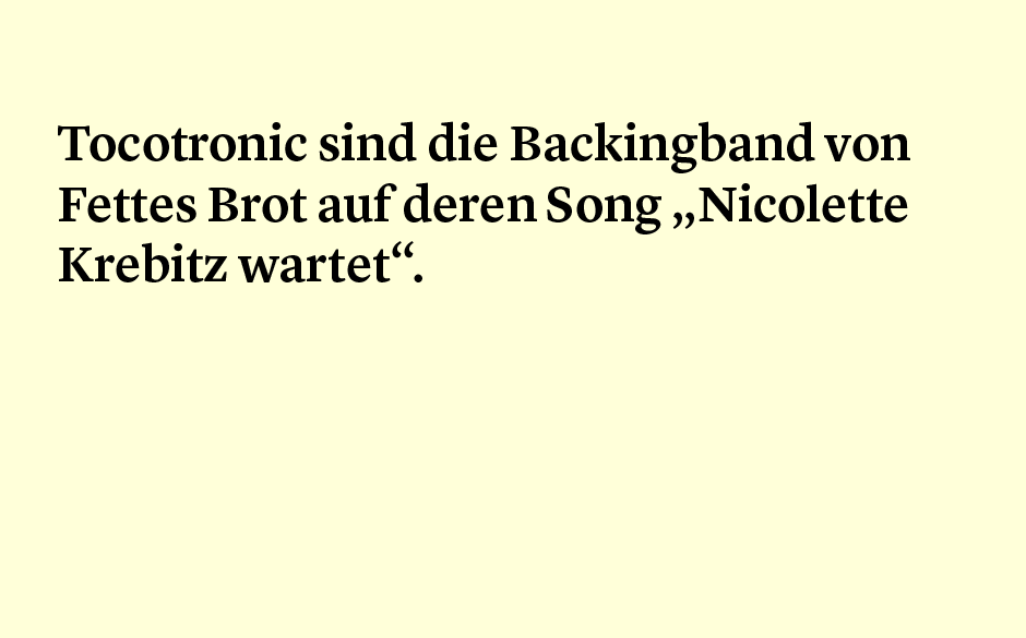 Faktum 68: Tocotronic und Fettes Brot