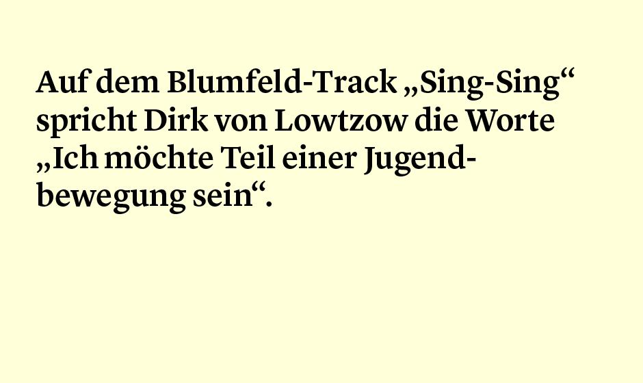 Faktum 71: Sing-Sing Blumfeld und Tocotronic