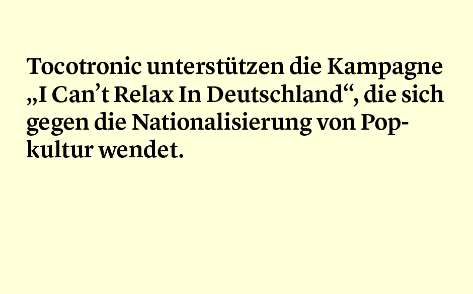Faktum 73: Tocotronic Can't Relax In Deutschland