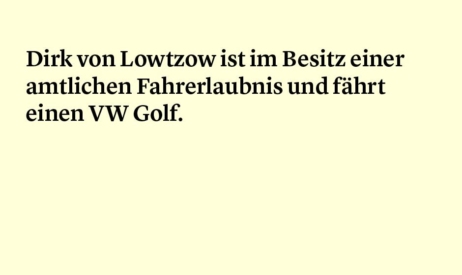 Faktum 74: Dirk von Lotzow fährt Volkswagen