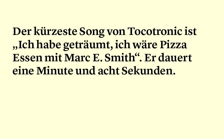 Faktum 76: der kürzeste Tocotronic-Song
