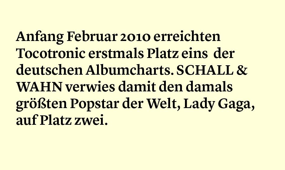 Faktum 79: Tocotronic charteten besser als Lady Gaga