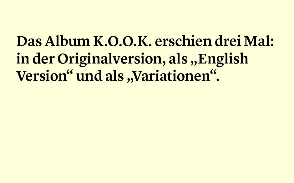 Faktum 82: die Variationen von K.O.O.K.