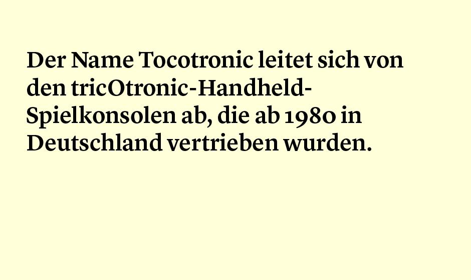 Faktum 87: Tocotronic - der Bandname