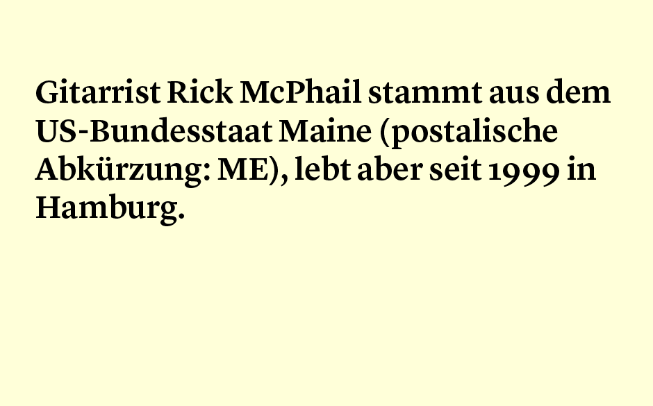 Faktum 90: die Herkunft von Rick McPhail: ME