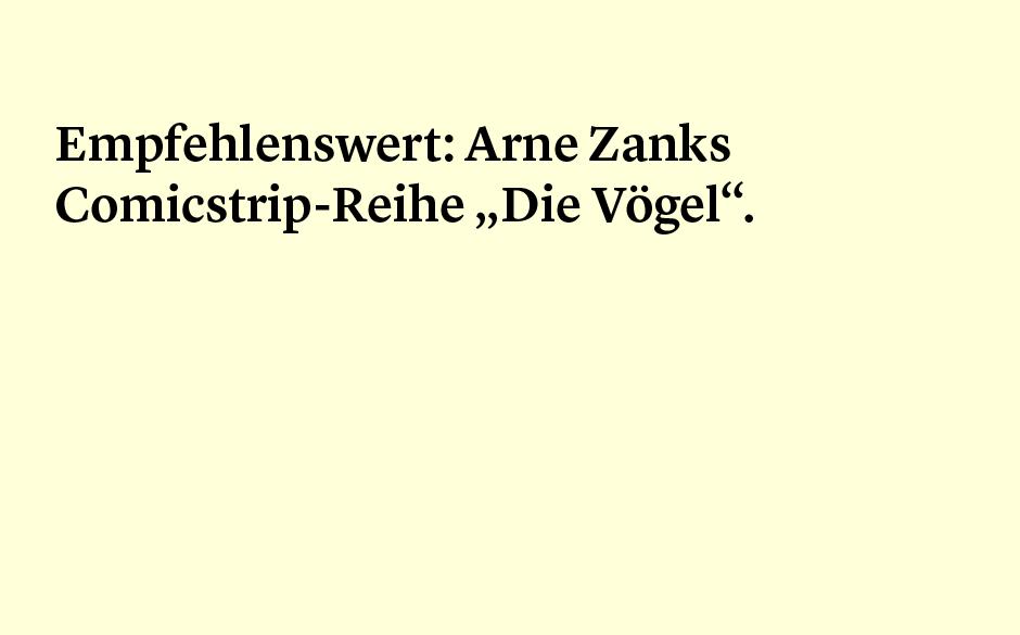 Faktum 93: Arne Zanks Comicstrip-Reihe