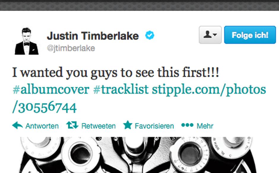 Justin Timberlake präsentiert seinen Fans die Informationen zum neuen Album