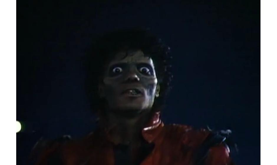 Michael Jackson mit grünem Teint.