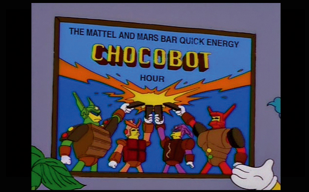 'The Mattel And Mars Bar Quick Energy CHOCOBOT Hour'