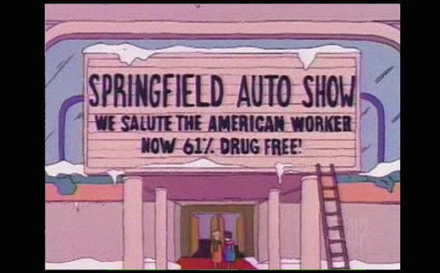 'Springfield Auto Show: We Salute The American Worker Now 61 % Drug Free'