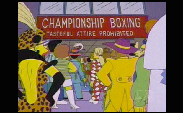 'Championship Boxing: Tasteful Attire Prohibited'