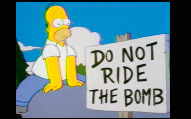 'Do Not Ride The Bomb'