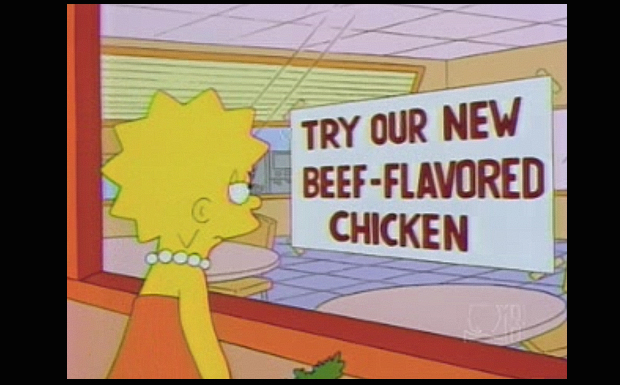 'Try Our New Beef-Flavored Chicken'