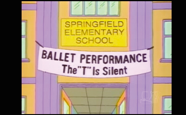 'Ballet Performance - The 'T' Is Silent'