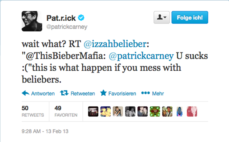 Patrick Carney beginnt sich mit dem Bieber-Believer- Shitstorm zu arrangieren.