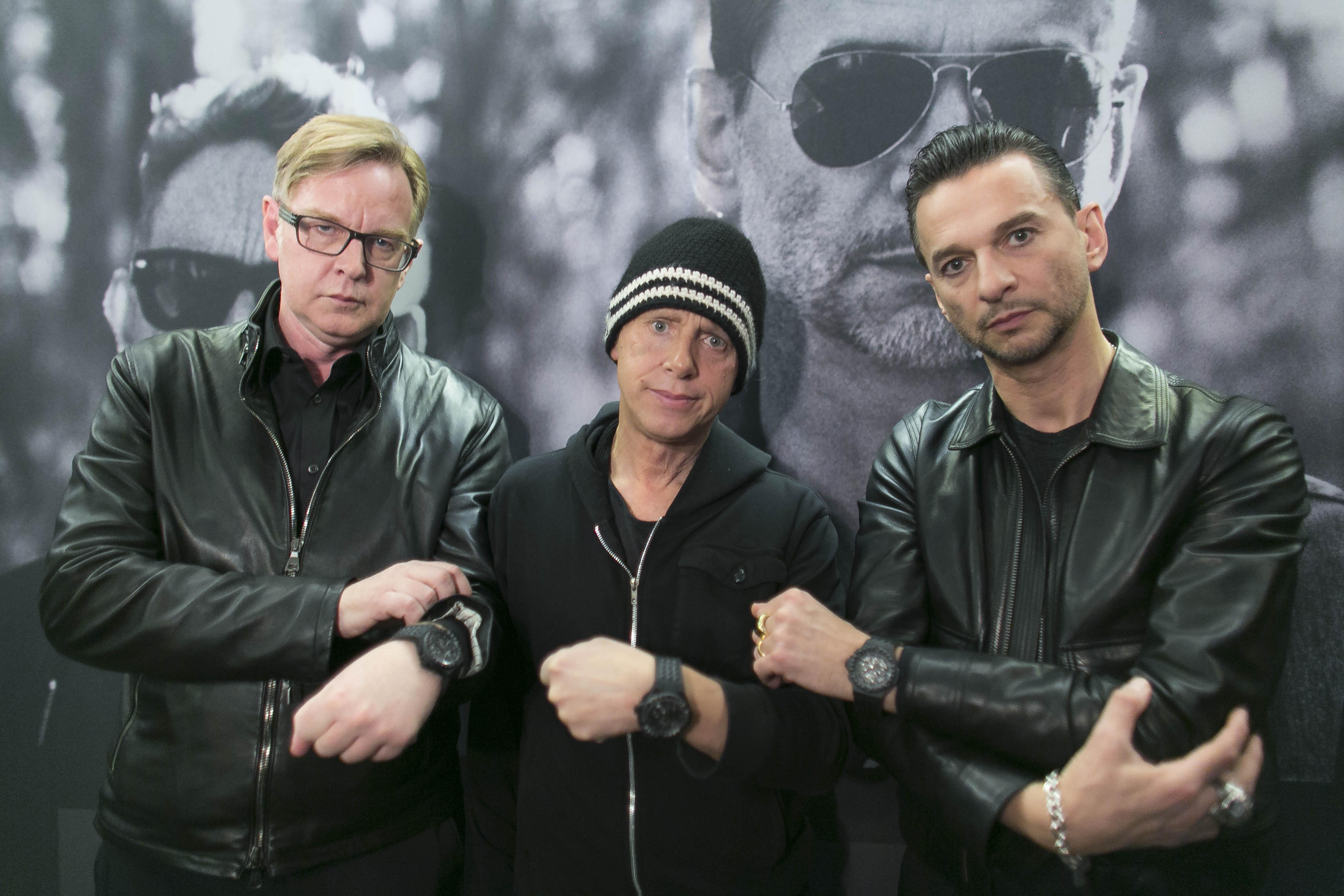 Andrew Fletcher, Martin Gore und Dave Gahan präsentieren ihr neues Album DELTA MACHINE im März 2013 in Berlin - und eine li
