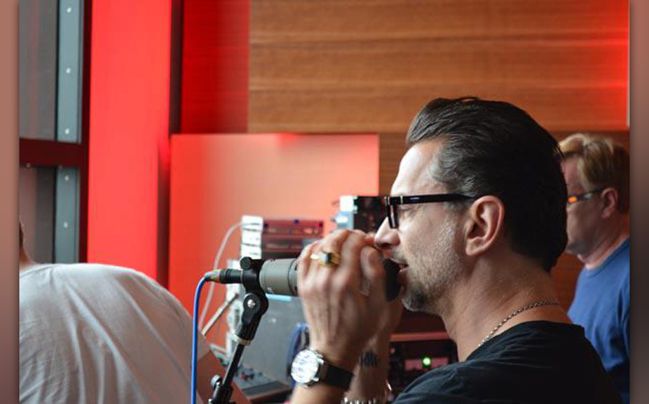 Dave Gahan in den Jungle City Studios in New York