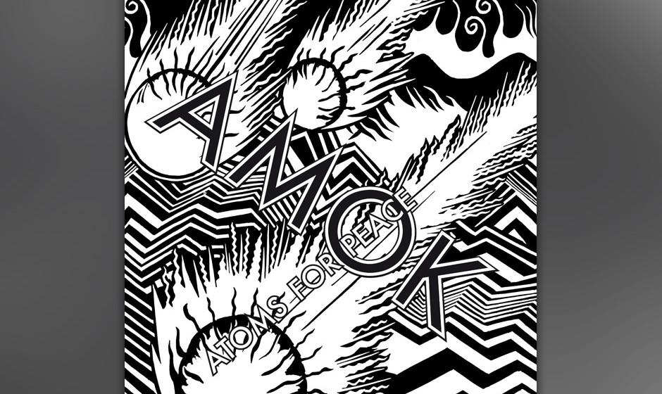 Thom Yorke, Flea und Nigel Godrich = Atoms For Peace. Das Debüt-Album heißt AMOK