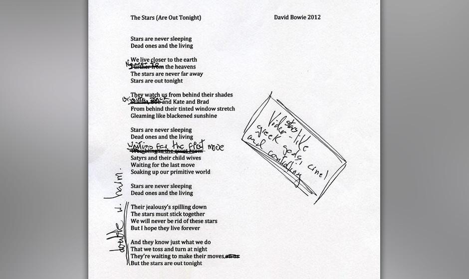 Die Lyrics zu 'The Stars (Are Out Tonight)'