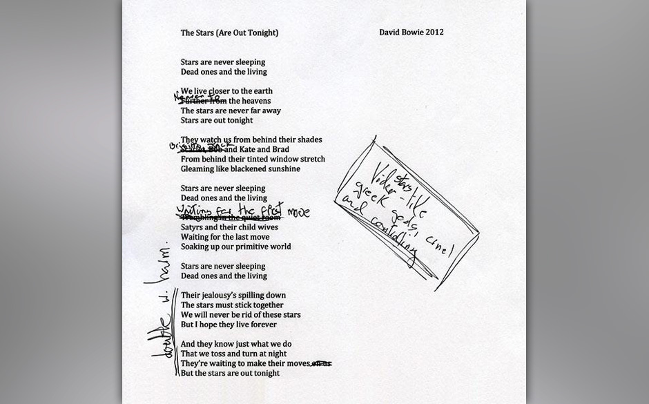Die Lyrics zu 'The Stars (Are Out Tonight)'