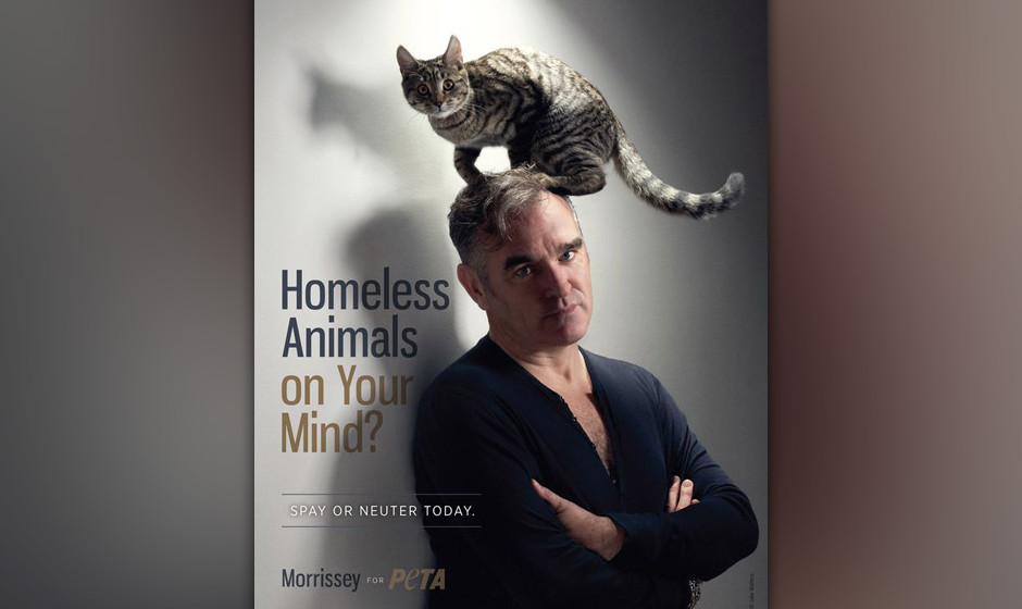 Morrissey in einer PETA Werbekampagne