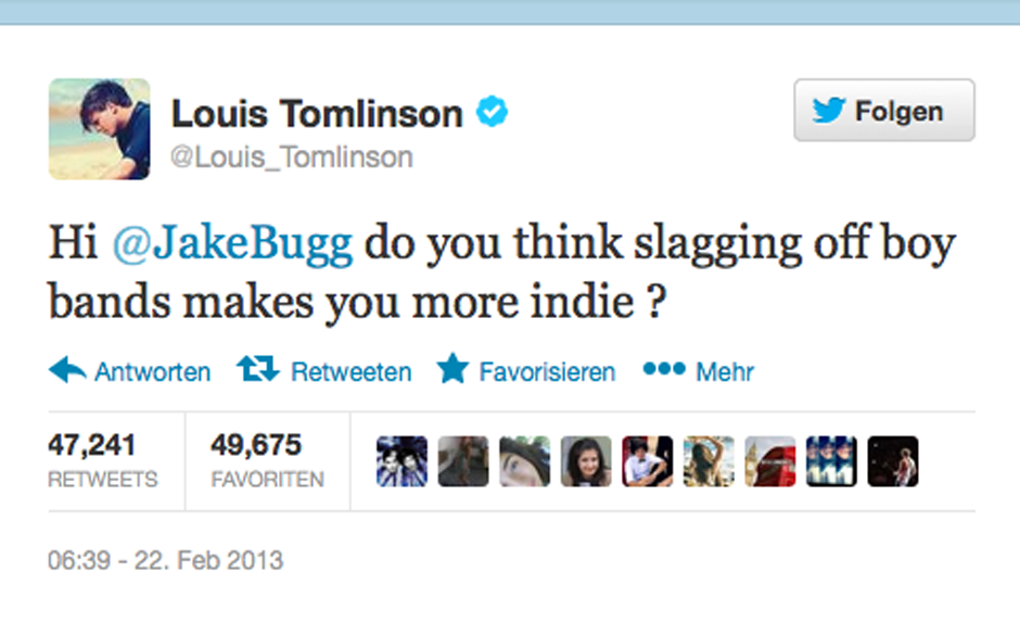 One Direction finden Jake Buggs Attitüde nicht lustig