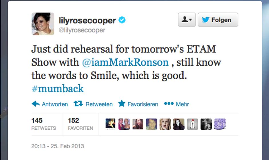 Lily Allen freut sich, dass sie 'Smile' noch kann