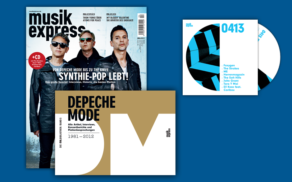 Der Musikexpress 4/2013 kommt mit Depeche Mode, unserem neuen ME-Band über die gleiche Band und mit einer ziemlich runden CD