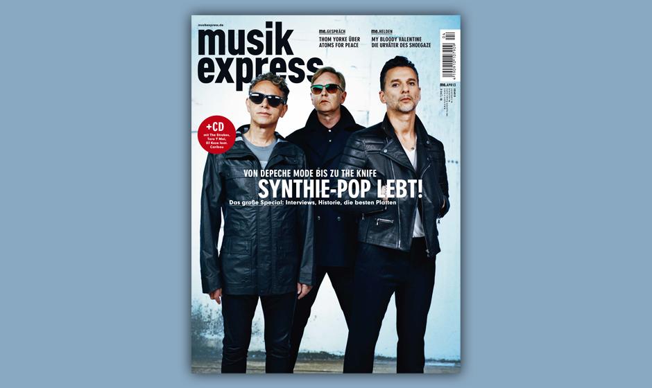 Depeche Mode auf dem Titel des Musikexpress 4/2013