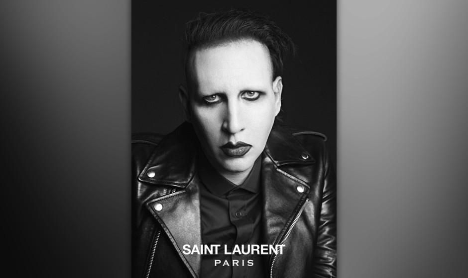 Marilyn Manson in der neuen Saint-Laurent-Kampagne