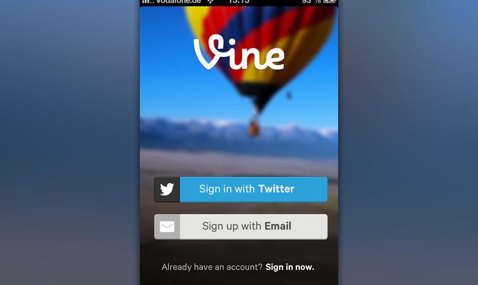 Vine, der neue Videodienst von Twitter