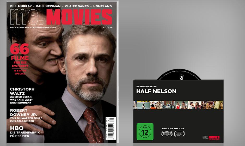 ME.MOVIES - mit Christoph Waltz auf dem Cover und der DVD 'Half Nelson' im Heft