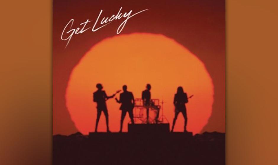 Daft Punks Single-Cover zu 'Get Lucky'