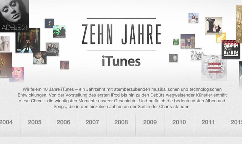 10 Jahre iTunes: Apple feiert Jubiläum