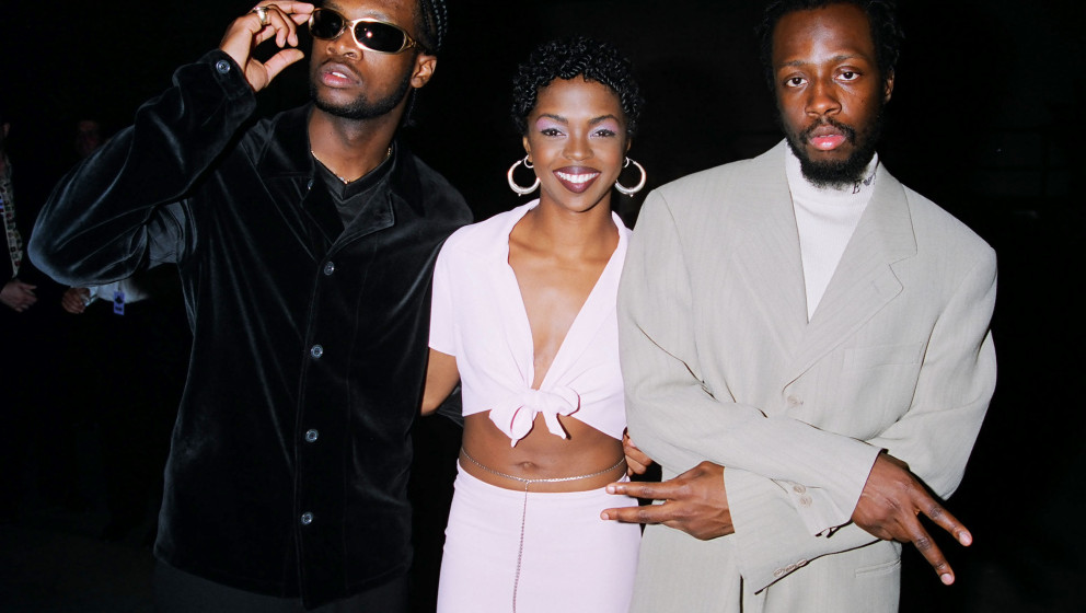 Pras, Lauryn Hill and Wyclef Jean of the Fugees (Photo by Jeff Kravitz/FilmMagic)