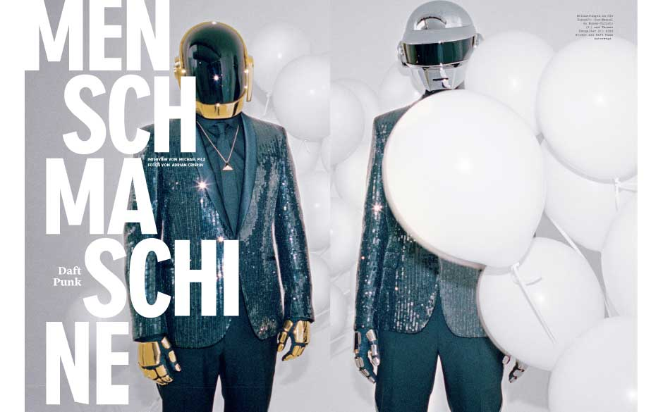 Unsere Titelhelden im neuen Musikexpress: Daft Punk