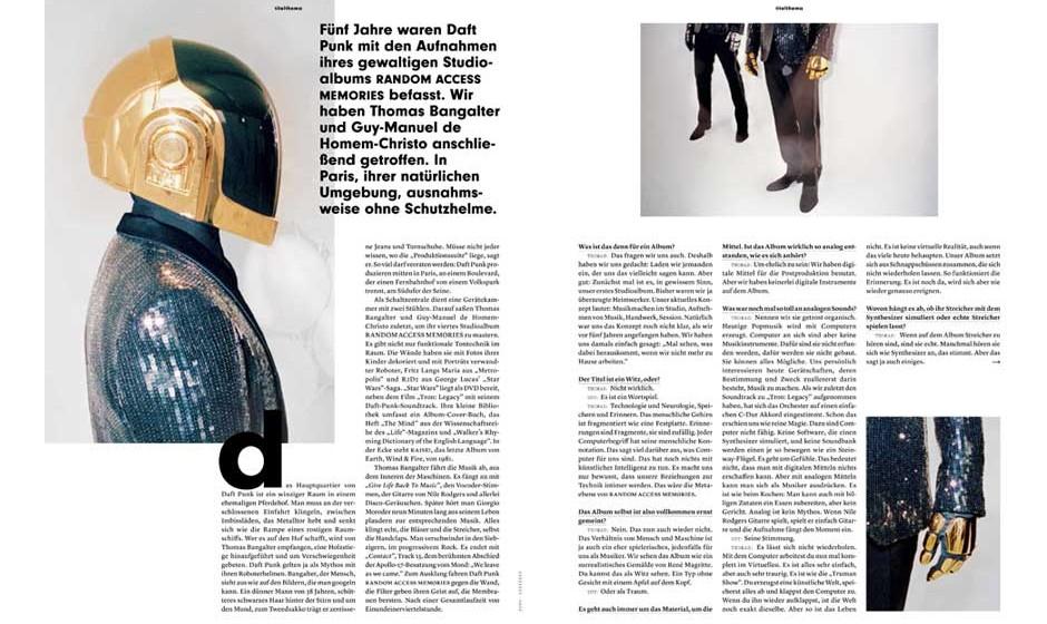 Daft-Punk-Interview im neuen Musikexpress