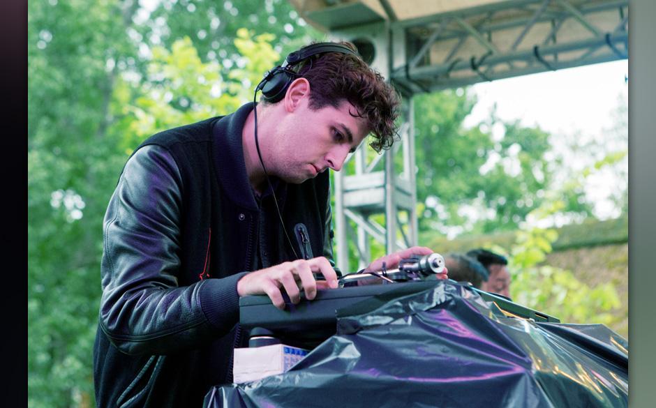 Jamie xx während seines DJ-Sets