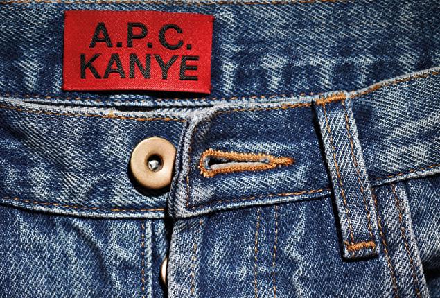 Mehr gibt es von der Kooperation zwischen Kanye West und A.P.C. bisher nicht zu sehen.