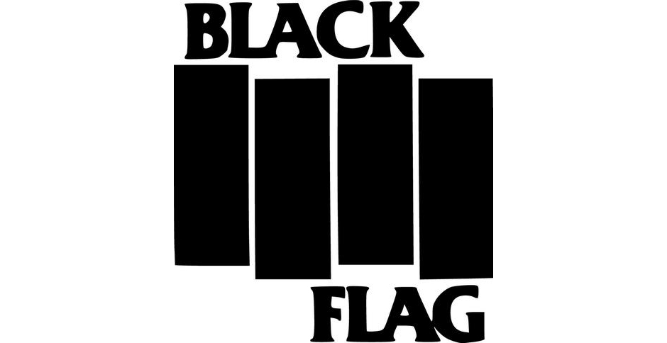 Black Flag. Dank des Logos kennt man die Band auch, wenn man sie nicht kennt.