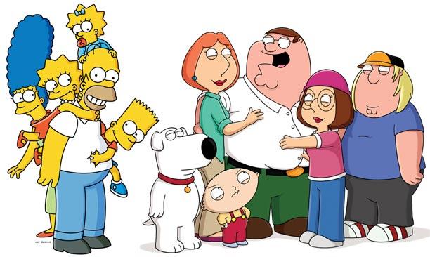 Kommen bald besser miteinander klar als bisher: The Simpsons und The Griffins