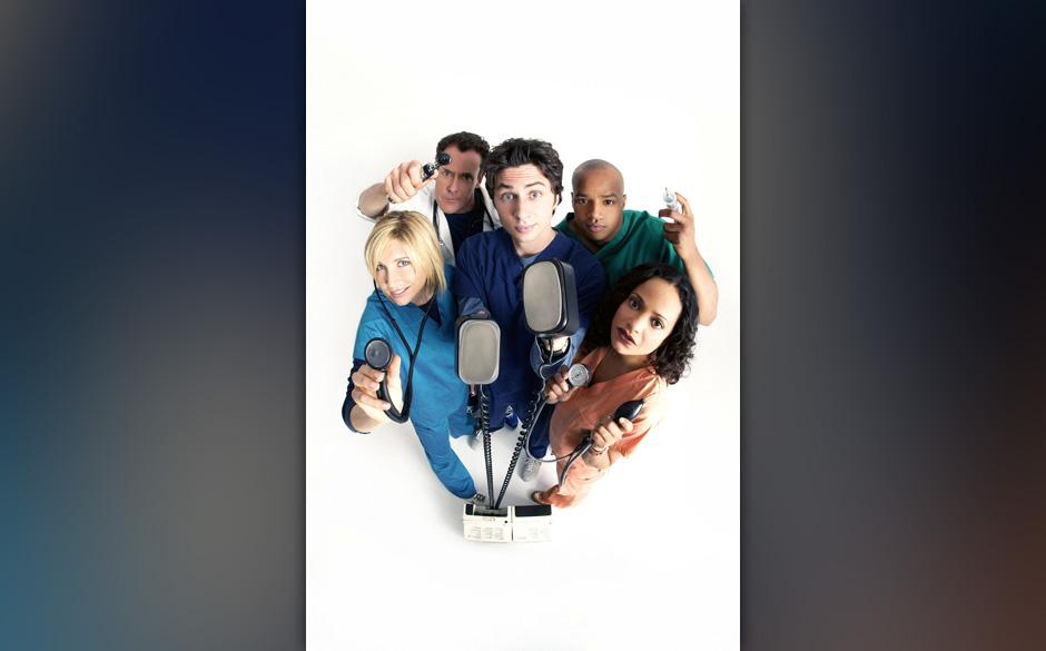 SCRUBS [US TV SERIES 2001 -  ] Series#4 [L-R] SARAH CHALKE as Dr. Elliot Reid, JOHN C. MCGINLEY as Dr. Perry Cox, ZACH BRAFF
